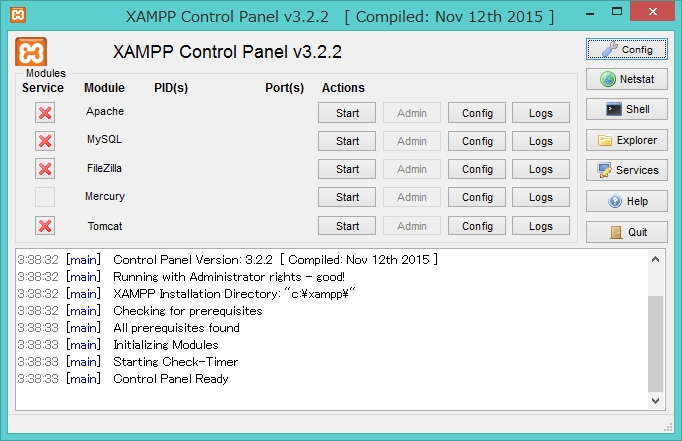 XAMPP-Control-Panel v3.2.2